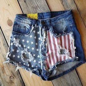 2 for $38 MACHINE denim shorts